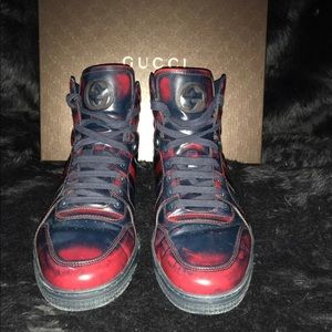 Gucci Shoes - Gucci Men Coda Burnished High-Top Sneaker